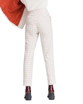 rag & bone - Poppy Plaid High-Waisted Wool-Blend Ankle Pants