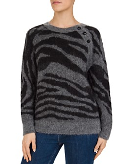 Gerard Darel - Solange Tiger-Jacquard Sweater
