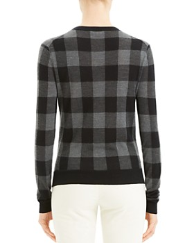 Theory - Silk & Cashmere Buffalo Plaid Sweater