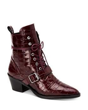 ALLSAINTS - Women's Katy Croc-Embossed Boots