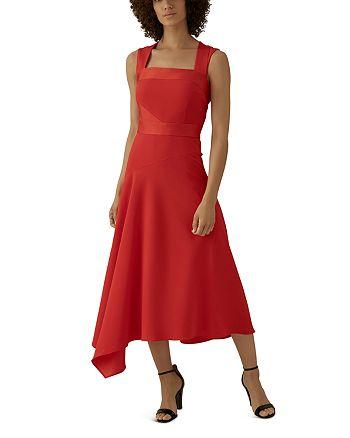 KAREN MILLEN - Asymmetric Midi Dress