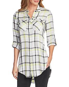 VINCE CAMUTO - Plaid Tunic Shirt