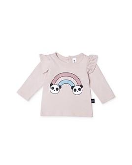 Huxbaby - Girl's Ruffled Rainbow Top - Baby