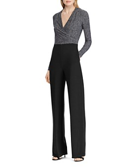 Ralph Lauren - Two-Tone Straight-Leg Jumpsuit