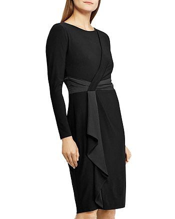 Ralph Lauren - Satin-Trim Long-Sleeve Dress