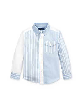 Ralph Lauren - Boys' Striped Color-Block Button-Down Shirt - Little Kid