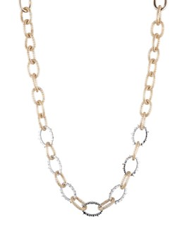 Alexis Bittar - Modern Georgian Crystal Encrusted Mesh Chain Link Necklace, 16""