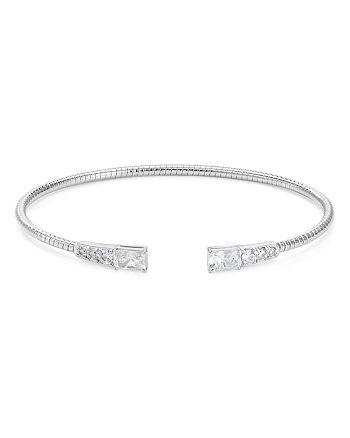 Nadri - Rae Pavé & Baguette Flexible Cuff Bracelet
