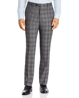John Varvatos Star USA - Windowpane Plaid Slim Fit Suit Pants