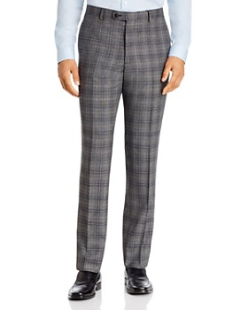 John Varvatos Star USA - Windowpane Plaid Slim Fit Suit Pants