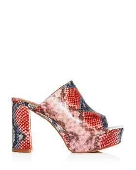 Jeffrey Campbell - Women's Pilar Block High-Heel Platform Slide Sandals