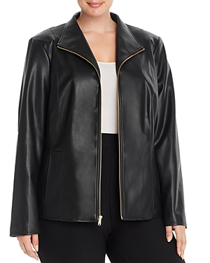 Cole Haan Plus Faux-Leather Jacket
