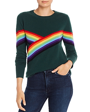 Madeleine Thompson Beatrice Rainbow Stripe Cashmere Sweater