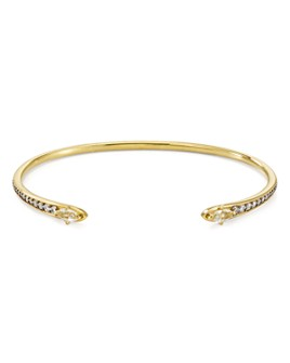 Nadri - White Topaz Open Cuff Bracelet in 18K Gold-Plated or Rhodium-Plated Sterling Silver