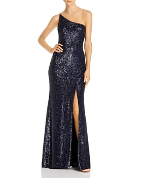 AQUA - Sequin One-Shoulder Gown - 100% Exclusive