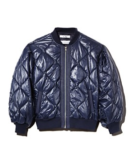 Clu - Quilted Balloon-Sleeve Bomber Jacket