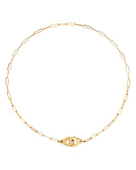 Dinh Van - 18K Yellow Gold Menottes Small Chain Link Necklace, 16.5""