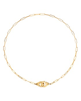 """Dinh Van - 18K Yellow Gold Menottes Small Chain Link Necklace, 16.5"""""""