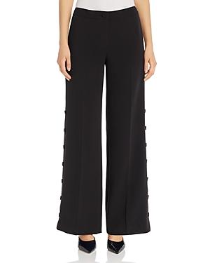 Karl Lagerfeld Paris Side-Button Wide-Leg Pants