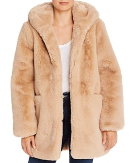 Apparis - Marie Hooded Faux-Fur Coat