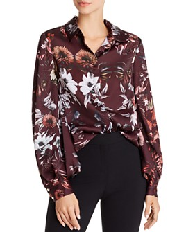 Ted Baker - Salliaa Amethyst Floral-Print Blouse - 100% Exclusive