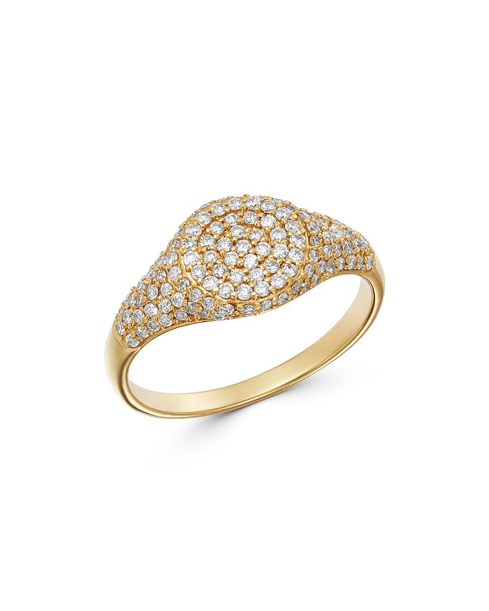 Moon & Meadow - Diamond Signet Ring in 14K Yellow Gold, 0.57 ct. t.w. - 100% Exclusive