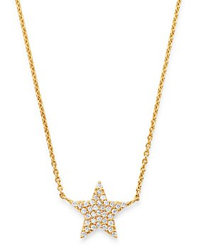Moon & Meadow - Diamond Star Pendant Necklace in 14K Yellow Gold, 0.18 ct. t.w. - 100% Exclusive