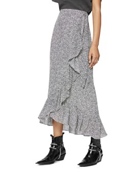 Anine Bing - Lucky Ruffled Wrap Skirt