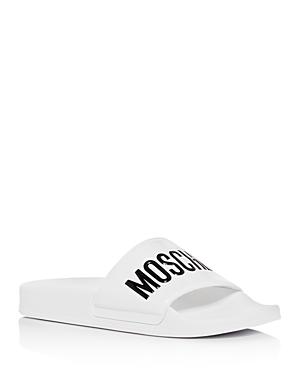 Moschino Women\\\'s Logo Slide Sandals
