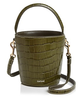 Cafuné - Mini Croc-Embossed Bucket Bag