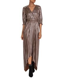 ba&sh - Pacey Metallic High/Low Dress