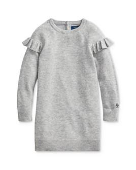 Ralph Lauren - Girls' Ruffled Sweater Dress - Little Kid