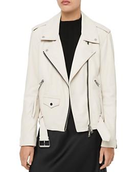 ALLSAINTS - ALLSAINTS X Talia Leather Biker Jacket - 100% Exclusive