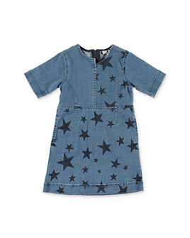 Stella McCartney - Girls' Star Print Denim Dress - Little Kid, Big Kid
