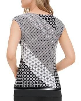 Calvin Klein - Pattern-Block Keyhole Top