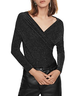 Maje - Tio Metallic Knit Bodysuit