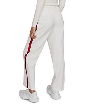 Maje - Paz Pleated Side-Stripe Pants