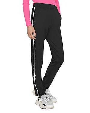 Maje Porto Studded Track Pants