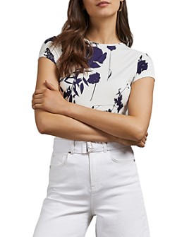 Ted Baker - Miliyy Bluebell Floral-Printed Fitted Tee