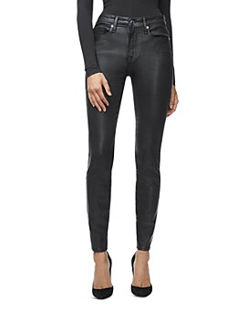 Good American - Good Legs Leather-Like Pants in Black