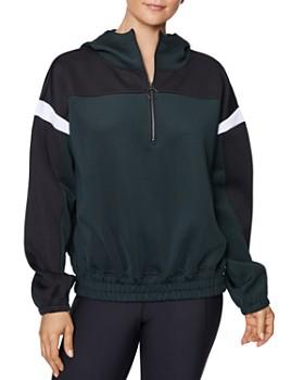 Betsey Johnson - Color-Block Half-Zip Sweatshirt