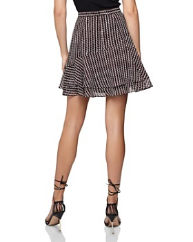 REISS - Lulu Asymmetric Ruffled Mini Skirt