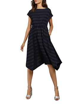 Ted Baker - Linnie Handkerchief-Hem Striped Dress