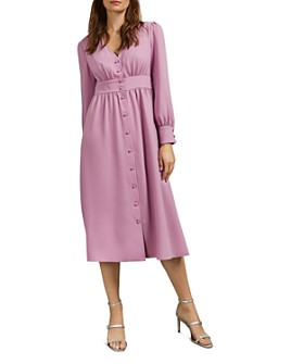 Ted Baker - Jesicar V-Neck Button-Front Midi Dress