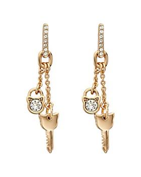 KARL LAGERFELD Paris - Lock & Key Choupette Linear Earrings