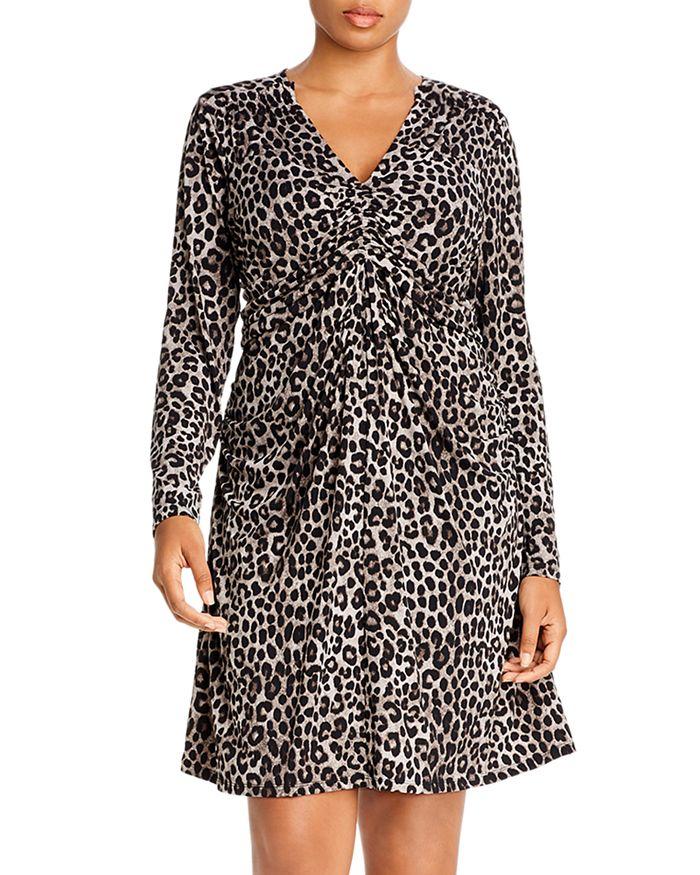 Leopard Ruched Dress
