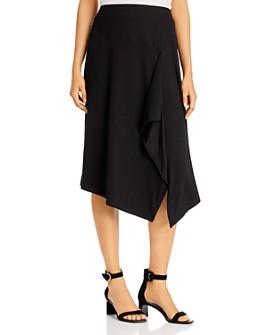 Calvin Klein - Ribbed Asymmetric Midi Skirt