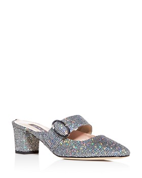 SJP by Sarah Jessica Parker - Women's Vamp Glitter Square-Toe Mules