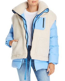 SJYP - Sherpa Overlay Down Jacket