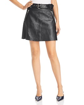Notes du Nord - Magnolia Leather Mini Skirt